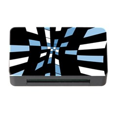 Blue abstraction Memory Card Reader with CF