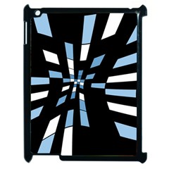 Blue abstraction Apple iPad 2 Case (Black)