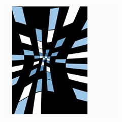 Blue abstraction Large Garden Flag (Two Sides)