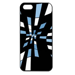 Blue abstraction Apple iPhone 5 Seamless Case (Black)