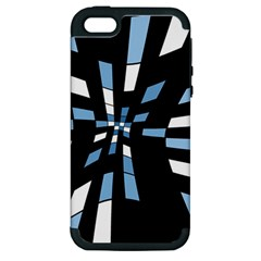 Blue abstraction Apple iPhone 5 Hardshell Case (PC+Silicone)