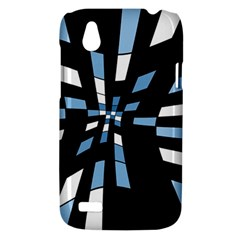 Blue abstraction HTC Desire V (T328W) Hardshell Case