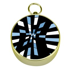 Blue abstraction Gold Compasses