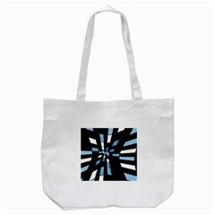 Blue abstraction Tote Bag (White)