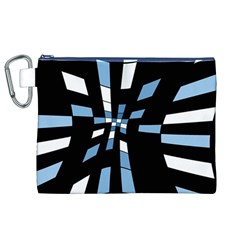 Blue abstraction Canvas Cosmetic Bag (XL)