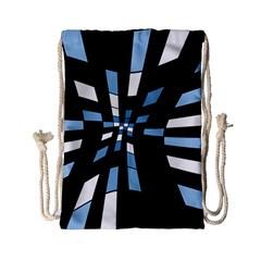 Blue abstraction Drawstring Bag (Small)