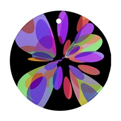 Colorful abstract flower Ornament (Round)