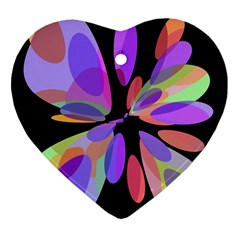 Colorful abstract flower Ornament (Heart)