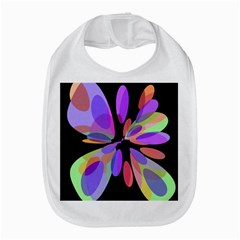 Colorful abstract flower Bib