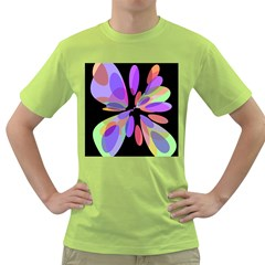 Colorful abstract flower Green T-Shirt