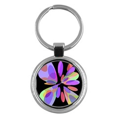 Colorful abstract flower Key Chains (Round)