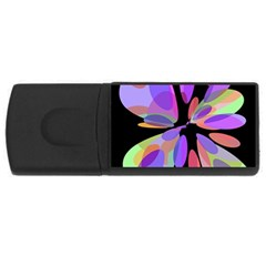 Colorful abstract flower USB Flash Drive Rectangular (2 GB)
