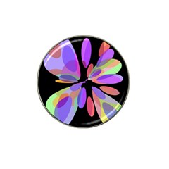 Colorful abstract flower Hat Clip Ball Marker (4 pack)