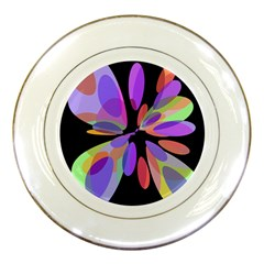 Colorful abstract flower Porcelain Plates