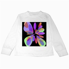 Colorful abstract flower Kids Long Sleeve T-Shirts