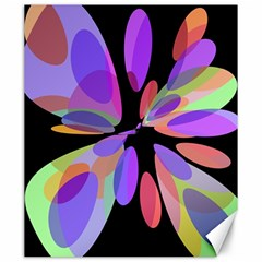 Colorful abstract flower Canvas 20  x 24