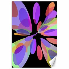 Colorful abstract flower Canvas 20  x 30