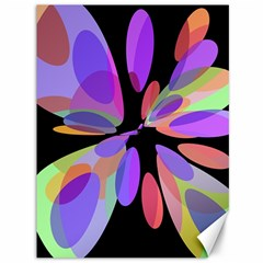 Colorful abstract flower Canvas 36  x 48