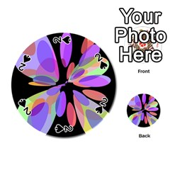 Colorful abstract flower Playing Cards 54 (Round)