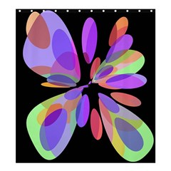 Colorful abstract flower Shower Curtain 66  x 72  (Large)