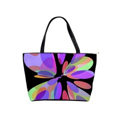 Colorful abstract flower Shoulder Handbags