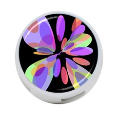 Colorful abstract flower 4-Port USB Hub (Two Sides)