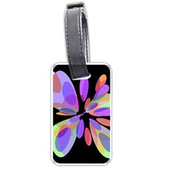 Colorful abstract flower Luggage Tags (One Side)