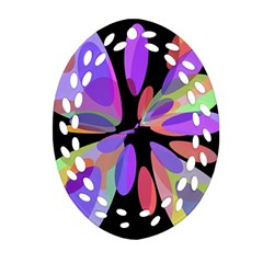 Colorful abstract flower Ornament (Oval Filigree)