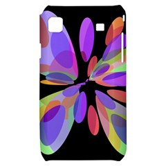 Colorful abstract flower Samsung Galaxy S i9000 Hardshell Case