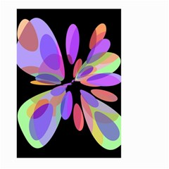 Colorful abstract flower Large Garden Flag (Two Sides)