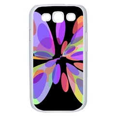 Colorful abstract flower Samsung Galaxy S III Case (White)