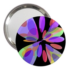 Colorful abstract flower 3  Handbag Mirrors