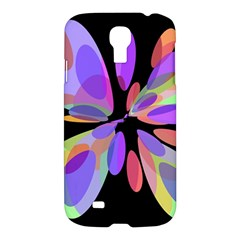 Colorful abstract flower Samsung Galaxy S4 I9500/I9505 Hardshell Case