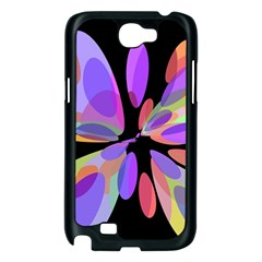 Colorful abstract flower Samsung Galaxy Note 2 Case (Black)