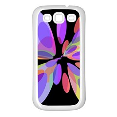 Colorful abstract flower Samsung Galaxy S3 Back Case (White)