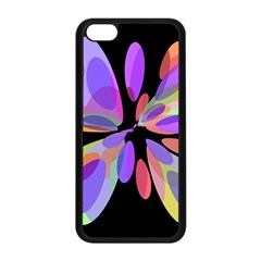 Colorful abstract flower Apple iPhone 5C Seamless Case (Black)
