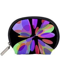 Colorful abstract flower Accessory Pouches (Small)