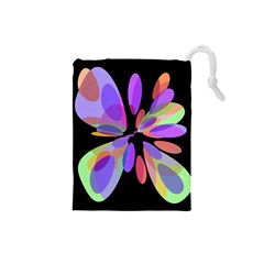 Colorful abstract flower Drawstring Pouches (Small)