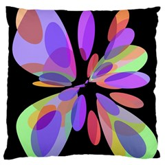 Colorful abstract flower Standard Flano Cushion Case (Two Sides)