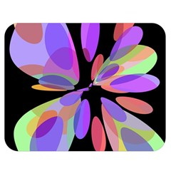 Colorful abstract flower Double Sided Flano Blanket (Medium)