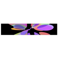 Colorful abstract flower Flano Scarf (Small)