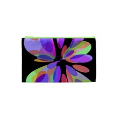 Colorful abstract flower Cosmetic Bag (XS)