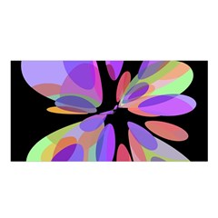 Colorful abstract flower Satin Shawl