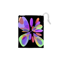 Colorful abstract flower Drawstring Pouches (XS)
