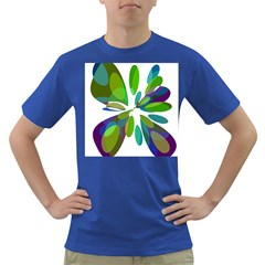 Green abstract flower Dark T-Shirt
