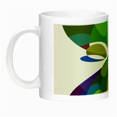Green abstract flower Night Luminous Mugs