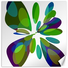 Green abstract flower Canvas 20  x 20