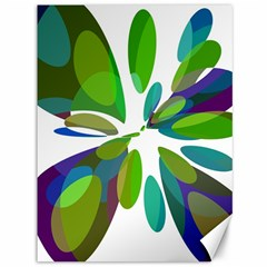 Green abstract flower Canvas 36  x 48
