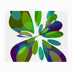Green abstract flower Small Glasses Cloth (2-Side)