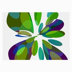 Green abstract flower Large Glasses Cloth (2-Side)